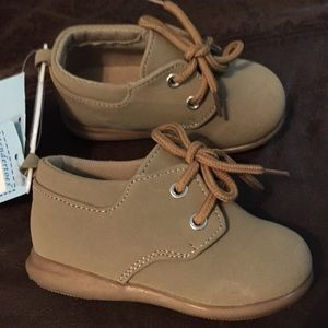 Tender Toes Baby Boy Shoes Size 5 New NWT Tan